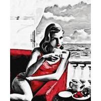 Картина по номера - Красива жена в червено GX 29769