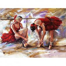 Комплект за рисуване по номера. Балерини в червено – GX 21633