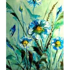 СИНИ МАРГАРИТКИ Комплект за рисуване по номера GX 22985