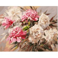 Розови божури Картина по номера - 23568