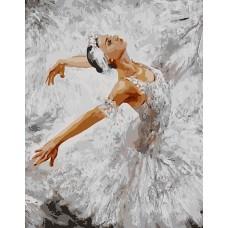 Комплект за рисуване по номера -Балерина -Лебед  GX 8074
