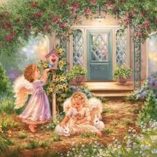 Картина по номера - Ангели в градината GX 21566