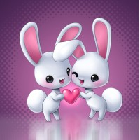 33006 ДИАМАНТЕНИ ГОБЛЕНИ- Влюбени зайчета