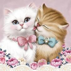 33021 Диамантен гоблен -Влюбени котета