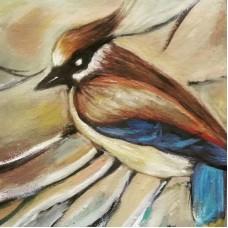 33053 Диамантен гоблен птица със сини крила