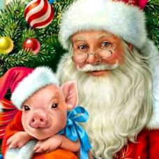33059 Диамантен гоблен -Коледно прасенце