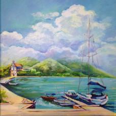 Рибарски лодки- диамантен гоблен PZ 0021