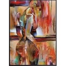 Жена в гърб- диамантен гоблен LD 304081