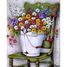 Шарени цветя - диамантен гоблен FL 304092