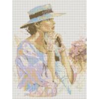 34033 Диамантен гоблен - Дамата с чадъра