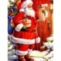 34086 Диамантен гоблен - Санта чукащ във врата