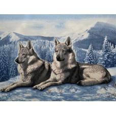 34098 Диамантен гоблен - Двойка вълци