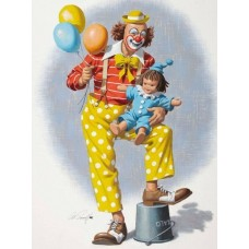 34102 Диамантен гоблен - Весел клоун