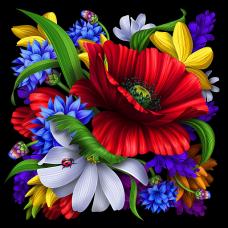 Цветя -Диамантен гоблен FL 44008