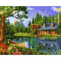 КАРТИНИ ПО НОМЕРА - Къща на езеро GX 22370