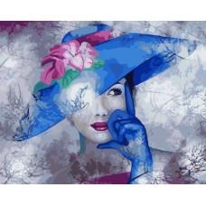 КАРТИНИ ПО НОМЕРА - Жена в синя шапка  GX 24405
