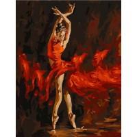 Балерина в червено - КАРТИНИ ПО НОМЕРА G 286