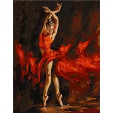Комплект за рисуване по номера. Балерина в червено - G 286