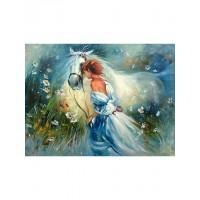 """Картина по номера - """"Дамата с коне"""" 9869"""