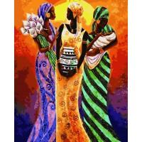 Комплект за рисуване по номера. Африканки – GX 8303