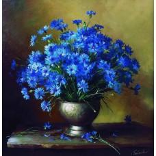 Сини цветя- Диамантен гоблен FL 304015