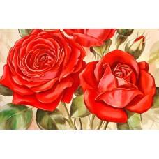Червени рози- Диамантен гоблен FL 304023