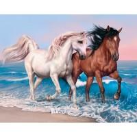 Комплект за рисуване по номера - Волни коне GX 27711