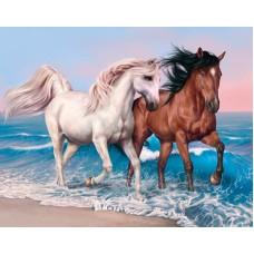 Комплект за рисуване по номера. Волни коне – GX 27711