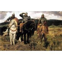 Комплект за рисуване по номера -трите богатира Васнецов