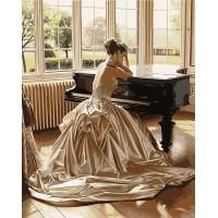 Дамата с ройала -Комплект за рисуване по номера GХ 8419