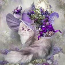 Котка в шапката- Диамантен гоблен 44001-1