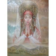 Комплект за рисуване по номера - Молитва за България- GX 35535