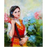 Българска девойка- Диамантен гоблен LD 405062