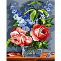 Рози във вазата- рисуване по номера GX 26534