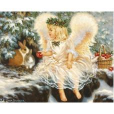 Ангелче с зайче- диамантен гоблен LD 304089