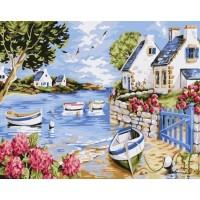 Рибарски лодки- Комплект за рисуване по номера   GX 31123