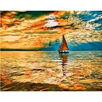 Вечерно море Комплект за рисуване по номера GX 32135
