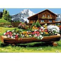 Планинска къща- Комплект за рисуване по номера   GX32156