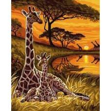 Комплект за рисуване по номера. Жирафи – GX 32559