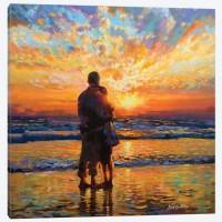 Влюбени на морето- Комплект за рисуване по номера   GX 32942