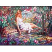 Жената с чадър- Комплект за рисуване по номера GX 33205
