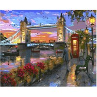 Комплект за рисуване по номера - Лондон GX 33314