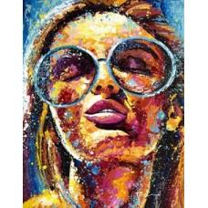 Комплект за рисуване по номера. Момиче с очила – GX 33905