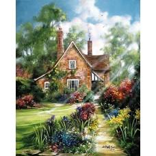 Къща с цветя- Диамантен гоблен PZ 40502