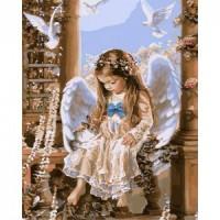 Комплект за рисуване по номера. Нежен Ангел худ. Сандра Кук – G 425