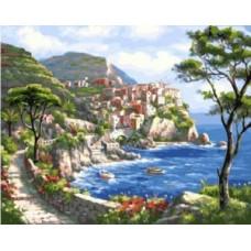 Картина по номера Лазурен бряг