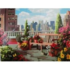 Картина по номера Градинка на покрива