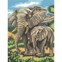 Рисуване по числа - семейство Слонове