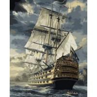 Комплект за рисуване по номера – Величественият кораб GX 6923
