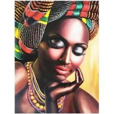 Африканско момиче - диамантен гоблен LD 304051-1